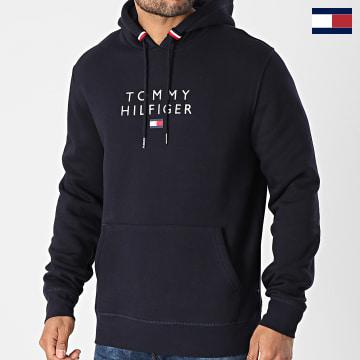 https://laboutiqueofficielle-res.cloudinary.com/image/upload/v1627566657/Marketing/WATERMARK%20svg/2logo_tommy_hilfiger.svg Tommy Hilfiger - Sweat Capuche Stacked Tommy Flag 7397 Bleu Marine