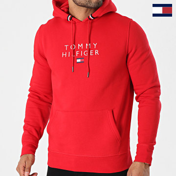 https://laboutiqueofficielle-res.cloudinary.com/image/upload/v1627566657/Marketing/WATERMARK%20svg/2logo_tommy_hilfiger.svg Tommy Hilfiger - Sweat Capuche Stacked Tommy Flag 7397 Rouge