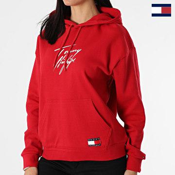 https://laboutiqueofficielle-res.cloudinary.com/image/upload/v1627566657/Marketing/WATERMARK%20svg/2logo_tommy_hilfiger.svg Tommy Hilfiger - Sweat Capuche Femme 2300 Rouge