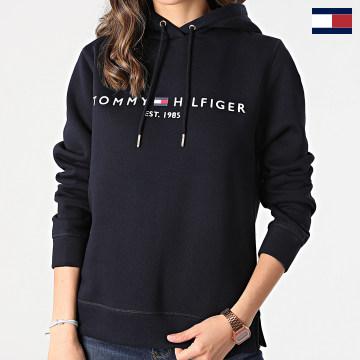 https://laboutiqueofficielle-res.cloudinary.com/image/upload/v1627566657/Marketing/WATERMARK%20svg/2logo_tommy_hilfiger.svg Tommy Hilfiger - Sweat Capuche Femme Heritage 1998 Bleu Marine