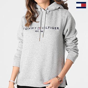 https://laboutiqueofficielle-res.cloudinary.com/image/upload/v1627566657/Marketing/WATERMARK%20svg/2logo_tommy_hilfiger.svg Tommy Hilfiger - Sweat Capuche Femme Heritage 1998 Gris Chiné
