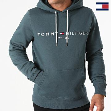 https://laboutiqueofficielle-res.cloudinary.com/image/upload/v1627566657/Marketing/WATERMARK%20svg/2logo_tommy_hilfiger.svg Tommy Hilfiger - Sweat Capuche Tommy Logo 1599 Gris Bleu