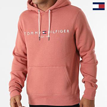 https://laboutiqueofficielle-res.cloudinary.com/image/upload/v1627566657/Marketing/WATERMARK%20svg/2logo_tommy_hilfiger.svg Tommy Hilfiger - Sweat Capuche Tommy Logo 1599 Rose Foncé