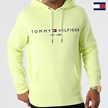 https://laboutiqueofficielle-res.cloudinary.com/image/upload/v1627566657/Marketing/WATERMARK%20svg/2logo_tommy_hilfiger.svg Tommy Hilfiger - Sweat Capuche Logo 1599 Vert Anis