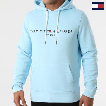 https://laboutiqueofficielle-res.cloudinary.com/image/upload/v1627566657/Marketing/WATERMARK%20svg/2logo_tommy_hilfiger.svg Tommy Hilfiger - Sweat Capuche Tommy Logo 1599 Bleu Ciel