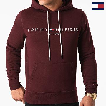 https://laboutiqueofficielle-res.cloudinary.com/image/upload/v1627566657/Marketing/WATERMARK%20svg/2logo_tommy_hilfiger.svg Tommy Hilfiger - Sweat Capuche Tommy Logo 1599 Bordeaux