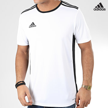 https://laboutiqueofficielle-res.cloudinary.com/image/upload/v1627638668/Desc/Watermark/adidas_performance.svg Adidas Performance - Tee Shirt De Sport Entrada 18 Jersey CD8438 Blanc