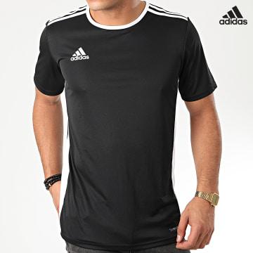 https://laboutiqueofficielle-res.cloudinary.com/image/upload/v1627638668/Desc/Watermark/adidas_performance.svg Adidas Performance - Tee Shirt A Bandes Entrada 18 CF1035 Noir