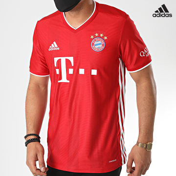 https://laboutiqueofficielle-res.cloudinary.com/image/upload/v1627638668/Desc/Watermark/adidas_performance.svg Adidas Performance - Tee Shirt A Bandes FC Bayern FR8358 Rouge