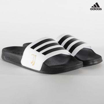 https://laboutiqueofficielle-res.cloudinary.com/image/upload/v1627638668/Desc/Watermark/adidas_performance.svg Adidas Performance - Claquettes Adilette Shower FW7075 Juventus Noir Blanc