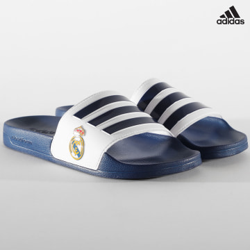 https://laboutiqueofficielle-res.cloudinary.com/image/upload/v1627638668/Desc/Watermark/adidas_performance.svg Adidas Performance - Claquettes Adilette Shower Real Madrid FW7073 Dark Blue Footwear White