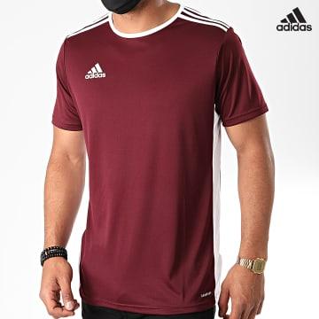 https://laboutiqueofficielle-res.cloudinary.com/image/upload/v1627638668/Desc/Watermark/adidas_performance.svg Adidas Performance - Tee Shirt A Bandes Entrada 18 CD8430 Bordeaux