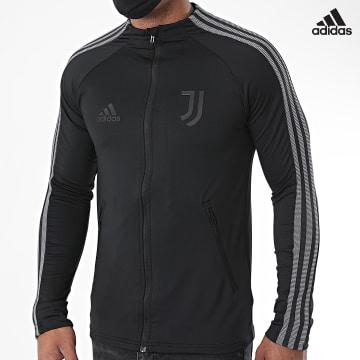 https://laboutiqueofficielle-res.cloudinary.com/image/upload/v1627638668/Desc/Watermark/adidas_performance.svg Adidas Performance - Veste De Sport A Bandes Juve Anthem FI4884 Noir