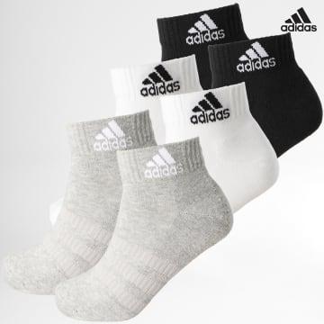 https://laboutiqueofficielle-res.cloudinary.com/image/upload/v1627638668/Desc/Watermark/adidas_performance.svg Adidas Performance - Lot De 6 Paires De Chaussettes Cush Ankle DZ9361 Blanc Noir Gris Chiné