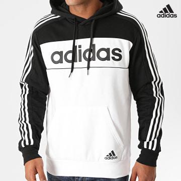 https://laboutiqueofficielle-res.cloudinary.com/image/upload/v1627638668/Desc/Watermark/adidas_performance.svg Adidas Performance - Sweat Capuche A Bandes GD5477 Blanc Noir