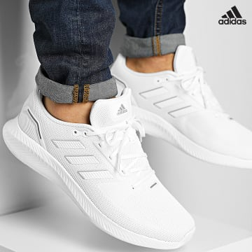 https://laboutiqueofficielle-res.cloudinary.com/image/upload/v1627638668/Desc/Watermark/adidas_performance.svg Adidas Performance - Baskets RunFalcon 2 FY9612 Cloud White Silver Metallic