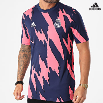 https://laboutiqueofficielle-res.cloudinary.com/image/upload/v1627638668/Desc/Watermark/adidas_performance.svg Adidas Performance - Tee Shirt De Sport Real Madrid FQ7902 Bleu Marine Rose
