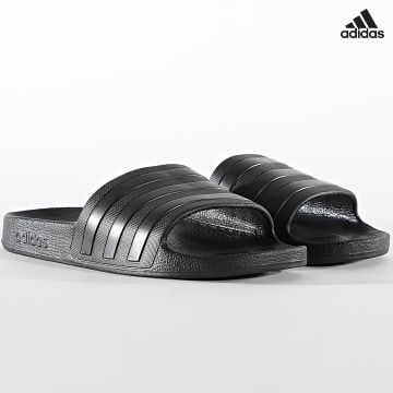 https://laboutiqueofficielle-res.cloudinary.com/image/upload/v1627638668/Desc/Watermark/adidas_performance.svg Adidas Performance - Claquettes Adilette Aqua F35550 Core Black