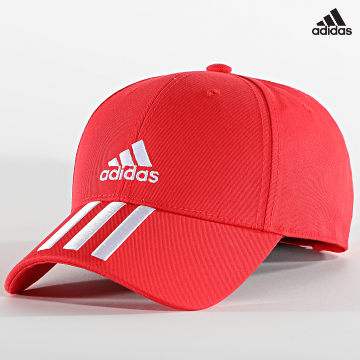 https://laboutiqueofficielle-res.cloudinary.com/image/upload/v1627638668/Desc/Watermark/adidas_performance.svg Adidas Performance - Casquette Baseball 3 Stripes GM6269 Rouge