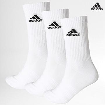 https://laboutiqueofficielle-res.cloudinary.com/image/upload/v1627638668/Desc/Watermark/adidas_performance.svg Adidas Performance - Lot De 3 Paires De Chaussettes Cush Crew DZ9356 Blanc