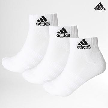 https://laboutiqueofficielle-res.cloudinary.com/image/upload/v1627638668/Desc/Watermark/adidas_performance.svg Adidas Performance - Lot De 3 Paires De Chaussettes Cush Ankle DZ9365 Blanc