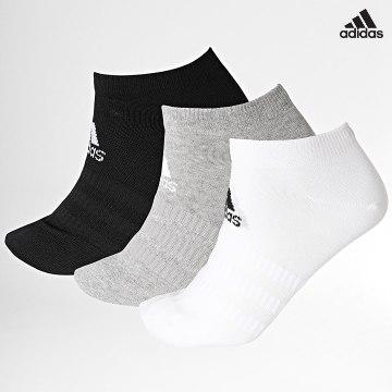 https://laboutiqueofficielle-res.cloudinary.com/image/upload/v1627638668/Desc/Watermark/adidas_performance.svg Adidas Performance - Lot De 3 Paires De Chaussettes Light Low DZ9400 Blanc Noir Gris Chiné