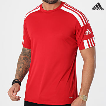 https://laboutiqueofficielle-res.cloudinary.com/image/upload/v1627638668/Desc/Watermark/adidas_performance.svg Adidas Performance - Tee Shirt A Bandes Squad 21 GN5722 Rouge