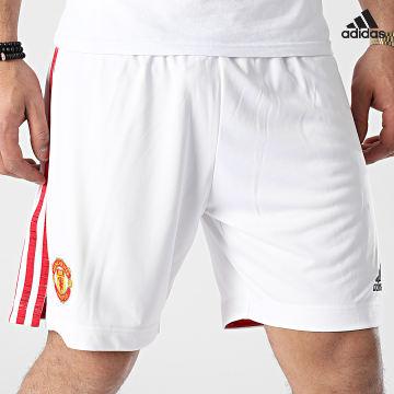 https://laboutiqueofficielle-res.cloudinary.com/image/upload/v1627638668/Desc/Watermark/adidas_performance.svg Adidas Performance - Short De Sport A Bandes Manchester United FM4289 Blanc