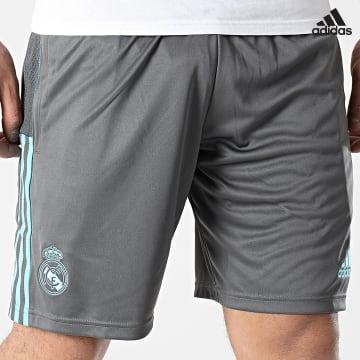 https://laboutiqueofficielle-res.cloudinary.com/image/upload/v1627638668/Desc/Watermark/adidas_performance.svg Adidas Performance - Short De Sport A Bandes Real Madrid GL0049 Gris