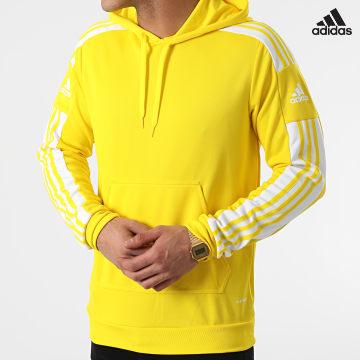 https://laboutiqueofficielle-res.cloudinary.com/image/upload/v1627638668/Desc/Watermark/adidas_performance.svg Adidas Performance - Sweat Capuche A Bandes SQ21 GP6435 Jaune