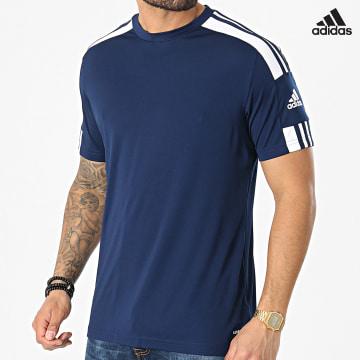 https://laboutiqueofficielle-res.cloudinary.com/image/upload/v1627638668/Desc/Watermark/adidas_performance.svg Adidas Performance - Tee Shirt A Bandes Squad 21 GN5724 Bleu Marine
