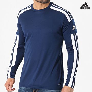 https://laboutiqueofficielle-res.cloudinary.com/image/upload/v1627638668/Desc/Watermark/adidas_performance.svg Adidas Performance - Tee Shirt Manches Longues A Bandes Squad 21 GN5790 Bleu Marine