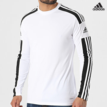 https://laboutiqueofficielle-res.cloudinary.com/image/upload/v1627638668/Desc/Watermark/adidas_performance.svg Adidas Performance - Tee Shirt Manches Longues A Bandes Squad 21 GN5793 Blanc