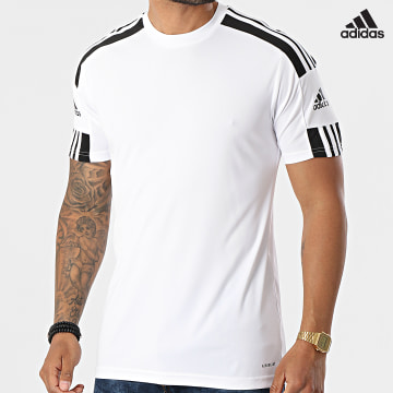 https://laboutiqueofficielle-res.cloudinary.com/image/upload/v1627638668/Desc/Watermark/adidas_performance.svg Adidas Performance - Tee Shirt De Sport A Bandes Squad 21 GN5723 Blanc