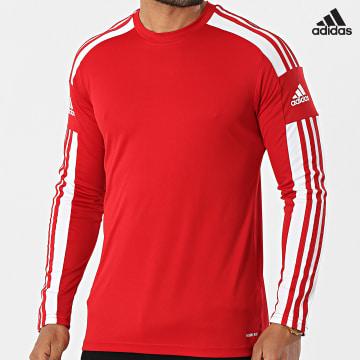 https://laboutiqueofficielle-res.cloudinary.com/image/upload/v1627638668/Desc/Watermark/adidas_performance.svg Adidas Performance - Tee Shirt De Sport Manches Longues A Bandes Squad 21 GN5792 Rouge