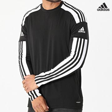 https://laboutiqueofficielle-res.cloudinary.com/image/upload/v1627638668/Desc/Watermark/adidas_performance.svg Adidas Performance - Tee Shirt De Sport Manches Longues A Bandes Squad 21 GN5742 Noir