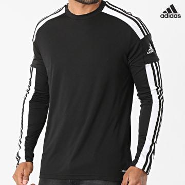 https://laboutiqueofficielle-res.cloudinary.com/image/upload/v1627638668/Desc/Watermark/adidas_performance.svg Adidas Performance - Tee Shirt De Sport Manches Longues A Bandes Squad 21 GN5792 Noir