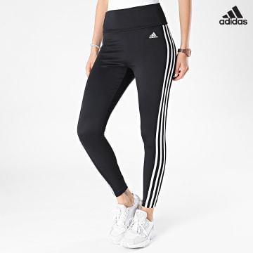 https://laboutiqueofficielle-res.cloudinary.com/image/upload/v1627638668/Desc/Watermark/adidas_performance.svg Adidas Performance - Legging Femme 3 Stripes 78 TIG GL4040 Noir