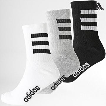 https://laboutiqueofficielle-res.cloudinary.com/image/upload/v1627638668/Desc/Watermark/adidas_performance.svg Adidas Performance - Lot De 3 Paires De Chaussettes 3 Stripes GE6167 Noir Blanc Gris Chiné