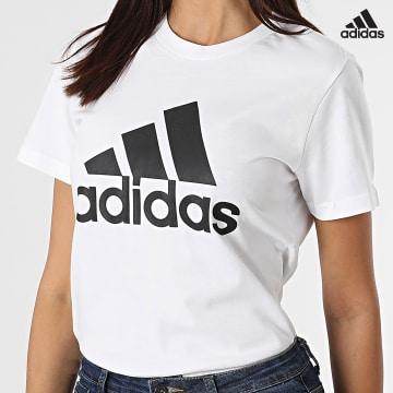 https://laboutiqueofficielle-res.cloudinary.com/image/upload/v1627638668/Desc/Watermark/adidas_performance.svg Adidas Performance - Tee Shirt Femme BL GL0649 Blanc
