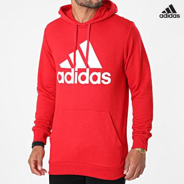 https://laboutiqueofficielle-res.cloudinary.com/image/upload/v1627638668/Desc/Watermark/adidas_performance.svg Adidas Performance - Sweat Capuche Big Logo GV0249 Rouge