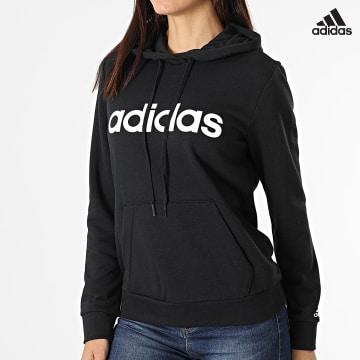 https://laboutiqueofficielle-res.cloudinary.com/image/upload/v1627638668/Desc/Watermark/adidas_performance.svg Adidas Performance - Sweat Capuche Femme Lin FT GL0635 Noir
