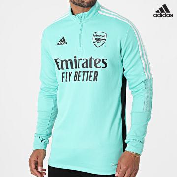 https://laboutiqueofficielle-res.cloudinary.com/image/upload/v1627638668/Desc/Watermark/adidas_performance.svg Adidas Performance - Sweat Col Zippé Arsenal GR4188 Vert Clair