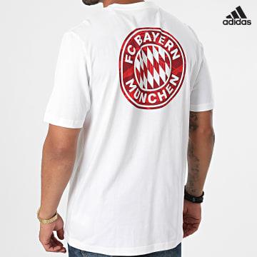 https://laboutiqueofficielle-res.cloudinary.com/image/upload/v1627638668/Desc/Watermark/adidas_performance.svg Adidas Performance - Tee Shirt De Sport FC Bayern GR0705 Ecru