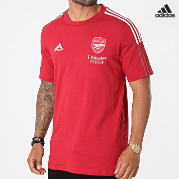 https://laboutiqueofficielle-res.cloudinary.com/image/upload/v1627638668/Desc/Watermark/adidas_performance.svg Adidas Performance - Tee Shirt A Bandes Arsenal FC GR4173 Rouge
