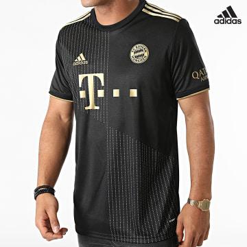 https://laboutiqueofficielle-res.cloudinary.com/image/upload/v1627638668/Desc/Watermark/adidas_performance.svg Adidas Performance - Tee Shirt De Sport A Bandes FC Bayern GM5317 Noir Doré