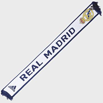 https://laboutiqueofficielle-res.cloudinary.com/image/upload/v1627638668/Desc/Watermark/adidas_performance.svg Adidas Performance - Echarpe Real Madrid GU0074 Blanc