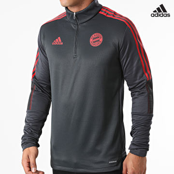 https://laboutiqueofficielle-res.cloudinary.com/image/upload/v1627638668/Desc/Watermark/adidas_performance.svg Adidas Performance - Tee Shirt Manches Longues A Bandes FC Bayern Munich GR0671 Gris Anthracite