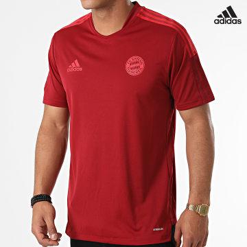 https://laboutiqueofficielle-res.cloudinary.com/image/upload/v1627638668/Desc/Watermark/adidas_performance.svg Adidas Performance - Tee Shirt De Sport A Bandes FC Bayern GR0657 Bordeaux