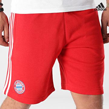 https://laboutiqueofficielle-res.cloudinary.com/image/upload/v1627638668/Desc/Watermark/adidas_performance.svg Adidas Performance - Short De Sport A Bandes FC Bayern GR0688 Rouge